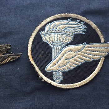 Wing and torch sterling military pin and patch