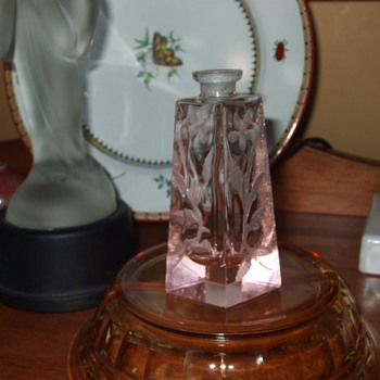 Found Czech/Bohemian  Pink Crystal Perfume Bottle- Stopper to Match? - Bottles