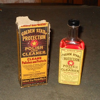 Golden Star Protection Polish and Cleaner Bottle With Box