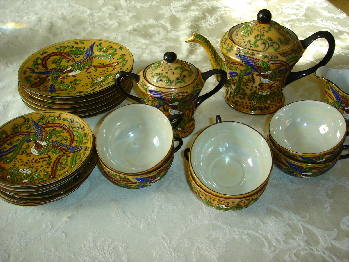 hand painted nippon made in japan tea set chocolate set. Black Bedroom Furniture Sets. Home Design Ideas