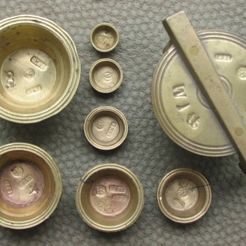 NESTING BRASS APOTHECARY WEIGHTS NEST - Tools and Hardware
