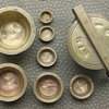 NESTING BRASS APOTHECARY WEIGHTS NEST