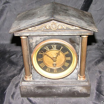Antique Mantle Clock Marble  - Clocks