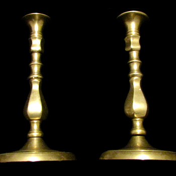 Candle Stick Holders ~Bronze~Gold Wash***VERY OLD*** - Lamps