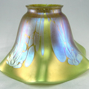 Loetz Medici Shade and Old Fixture - Art Glass