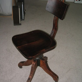 Early 1900s Cook Co. Office Chair - Furniture
