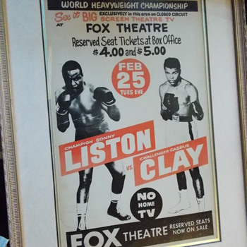 1964 Sonny Liston Cassius Clay poster - Posters and Prints