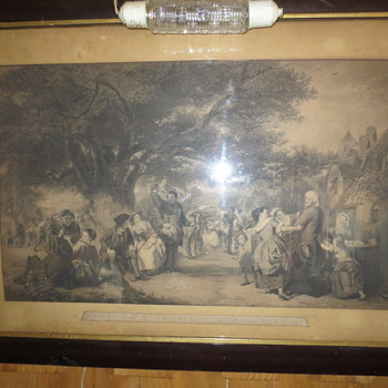 An old English print..merrymaking in England - Victorian Era