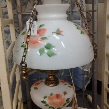 1950s flower pattern hanging lamp