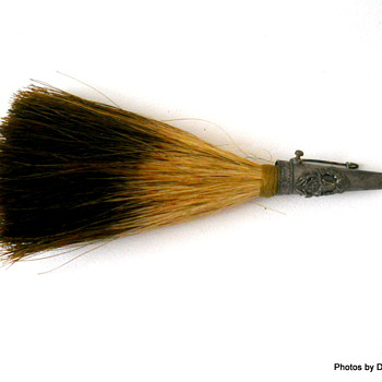Flea find:  Vintage German boar hair hat pin - Costume Jewelry
