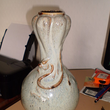 MYSTERY VASE WITH DRAGONS - Art Pottery