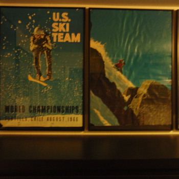 Vintage skiing - Posters and Prints