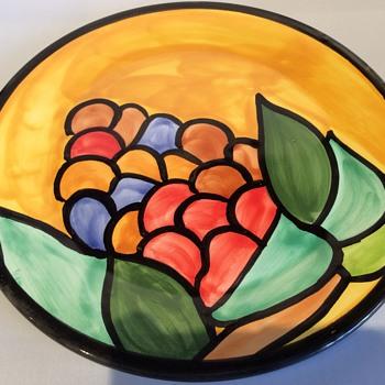 Vintage Portuguese plate - Art Pottery