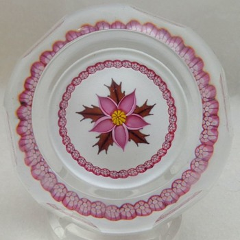 Willam Manson Caithness Glass Paperweight 1983 Winter Flower