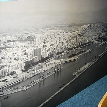1950s aerial view of Alicante - Posters and Prints