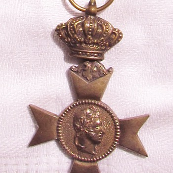 Medal of the Outstanding Philanthropic Society of Former Soldiers (Militia and Voluntary) of Leopold I, Belgium - Military and Wartime