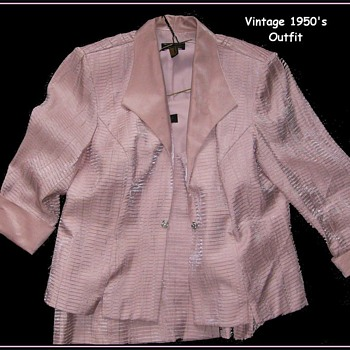 1950's Ladies Suit Jacket and Top - Womens Clothing