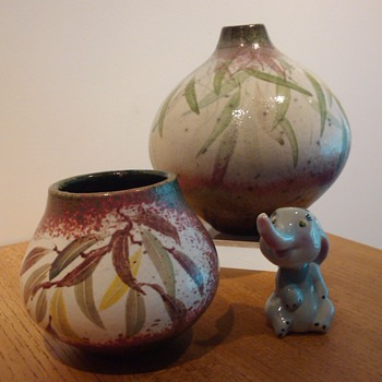 PETER HARRIS RAKU 2 - Art Pottery