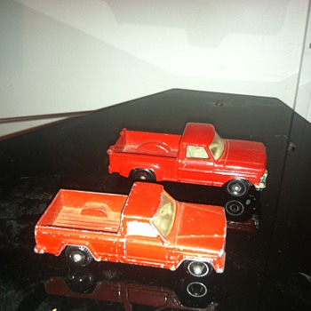 Jeep and Ford Matchbox trucks...