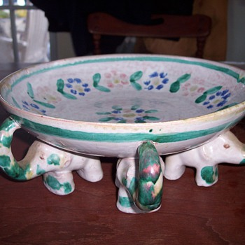 My Grandma's Elephant Bowl - Art Pottery
