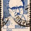 "Brazil - ""Zalmar Shazar"" Postage Stamp"