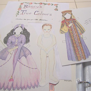hand made paper doll for sister - Paper