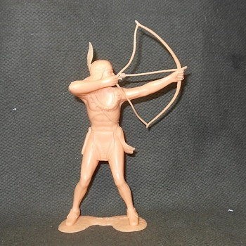"Marx 6"" Indian With Bow New and Improved Photos. - Toys"