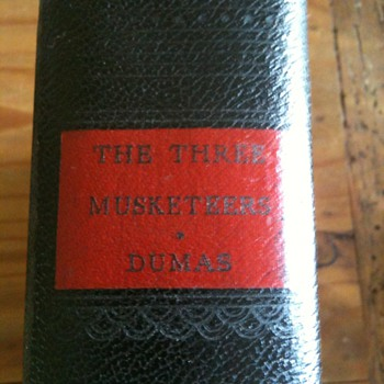 Three Musketeers Book Antique Dumas