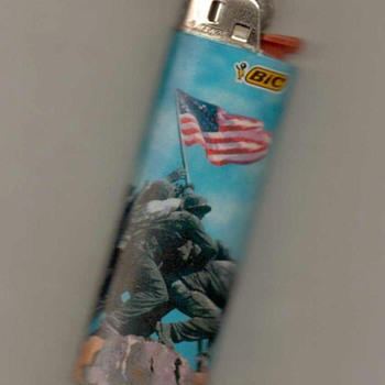 """Marine Corps War Memorial"" Bic Disposable Lighter"