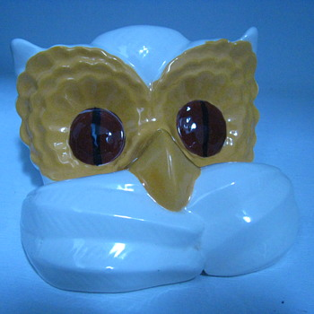 Vintage Childs Pottery Eyeglasses Holder Ceramic Bald Eagle Arnel's