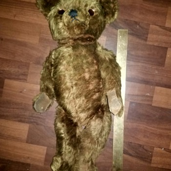 Antique teddy bear unknown manufacturer  - Animals