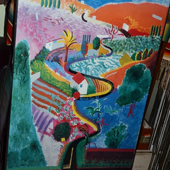 "David Hockney A Retrospective Nichols Canyon Road 1988 Art Poster Print 39"" x 24"" - Posters and Prints"