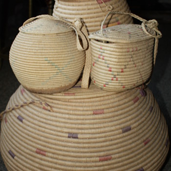 Sweetgrass woven baskets