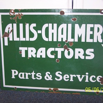 allis-chalmers sign - Advertising