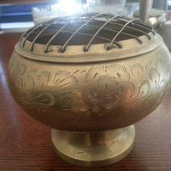 OLD BRASS VASE - Asian