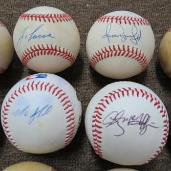 Signed Baseballs - Baseball