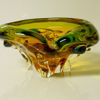 Art Glass Cigar Ashtray, Circa 1950-60 - Art Glass