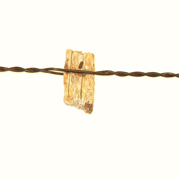 Hulbert Wood Warning Block Barbed Wire - Tools and Hardware