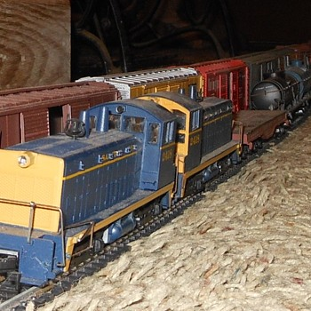 Meanwhile Over On the Side Track - Model Trains