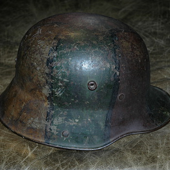 Rare WW1 German Cam0 Helmet - Military and Wartime