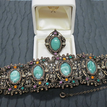 Selro Selini?  Costume Jewelry Bracelet and Ring