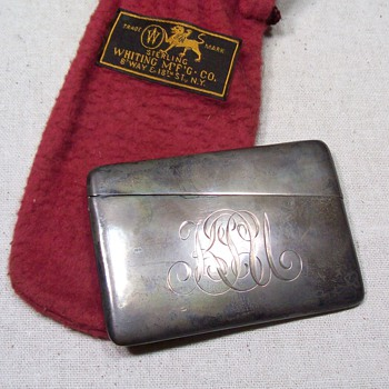 sterling cigarette case? - Tobacciana