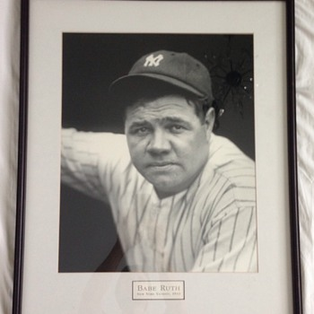 1933 Photograph Framed Picture Babe Ruth New York Yankees Baseball - Baseball