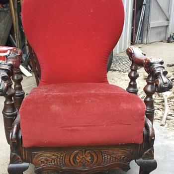 Antique Recliner - Furniture