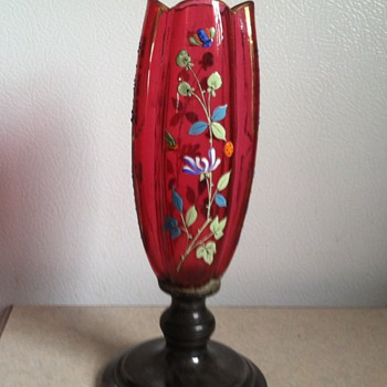 Handpainted vase - Art Glass