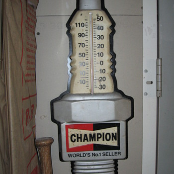 Champion Sparkplug Thermometer - Advertising