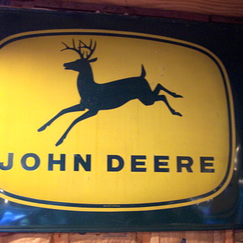 John Deere bubble sign - Advertising