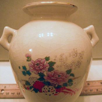 Satsuma? crackle glaze vase