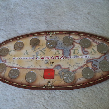 1999 Canada Millennium Quarter Coin Set - World Coins