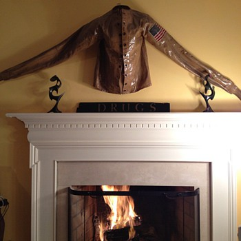 My Dining Room Fireplace - Military and Wartime